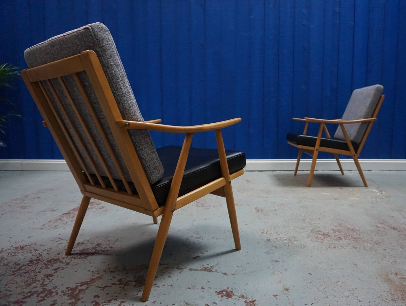 Pair of Mid Century Modern Czech Armchairs by Thonet, 1960
