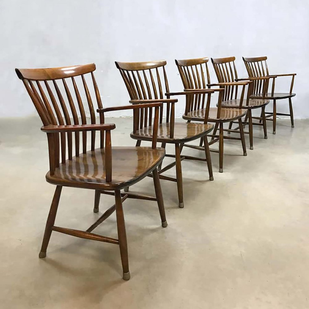 Set of 5 Vintage Swedish design dining chairs by Bengt Akerblom
