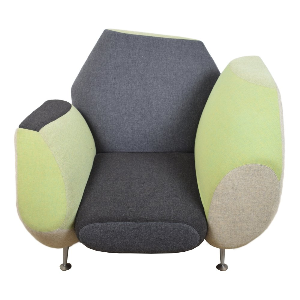 Hotel 21 grand suite arm chair by Javier Mariscal for Moroso Italy, 1990s