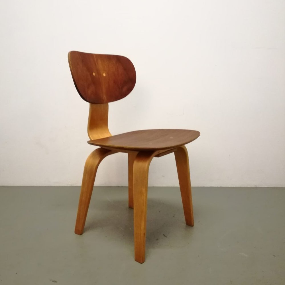 2 x SB02 dining chair by Cees Braakman for Pastoe, 1950s