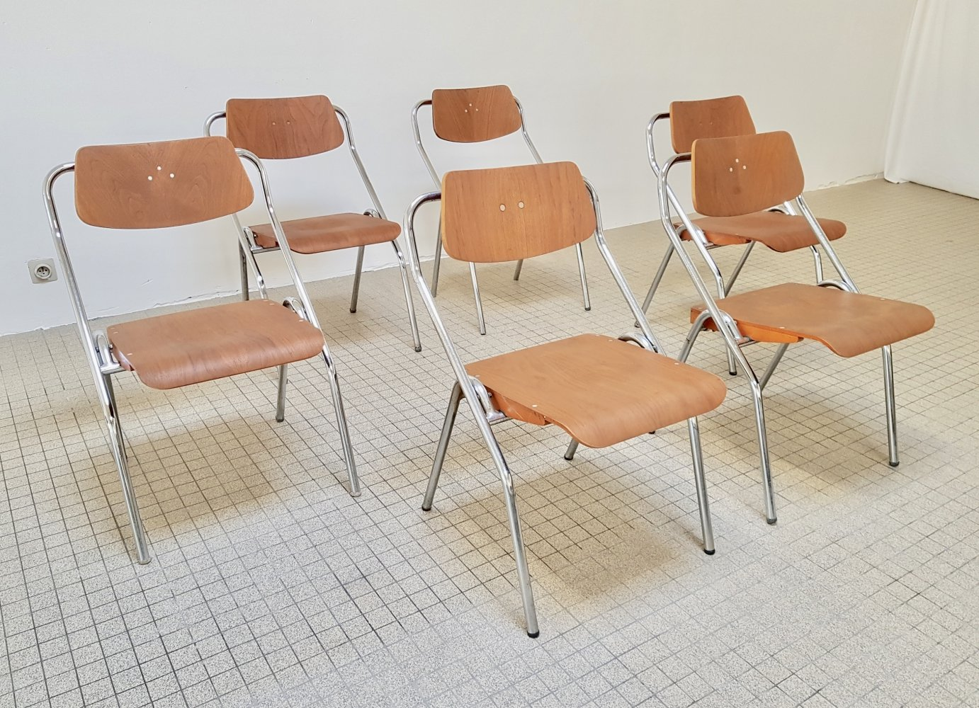 Mauser folding chairs by Erich Schelling, 1954