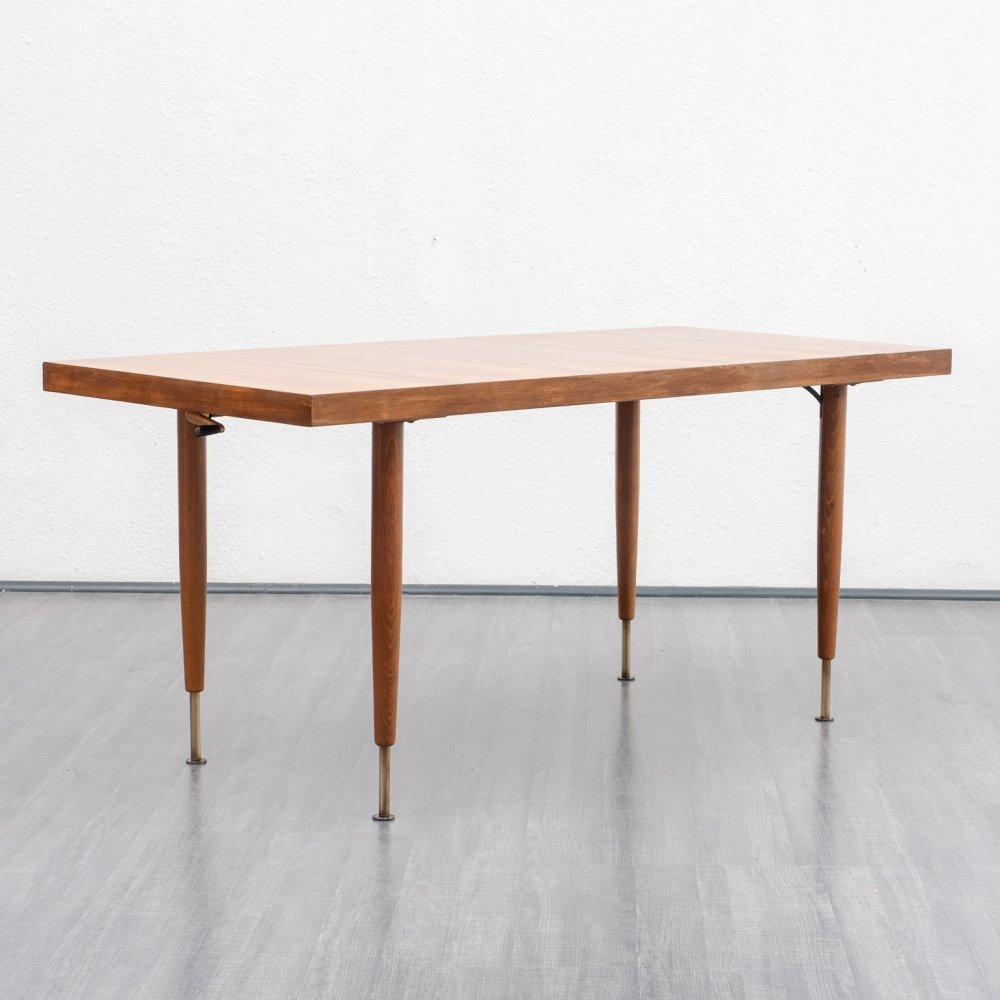 1960s height-adjustable dining table
