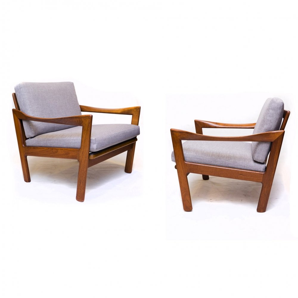 Set of two Teak Lounge Chairs by Illum Wikkelsø for Niels Eilersen