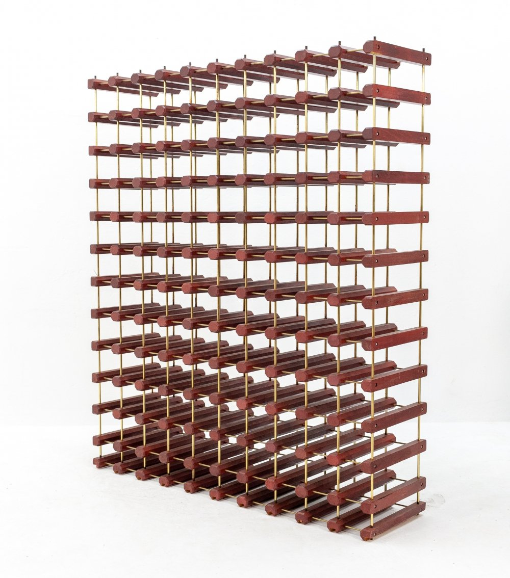Large wine rack for 110 bottles, 1980s