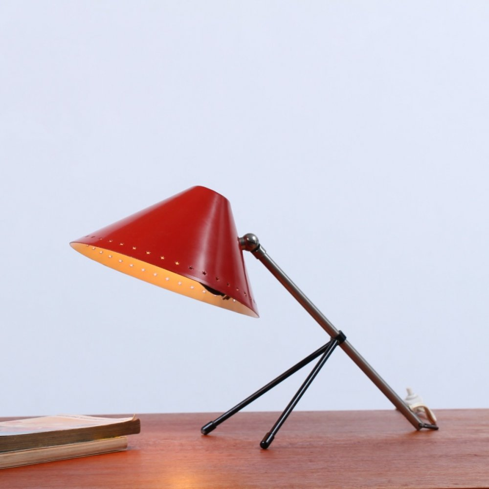 Red Hala Pinocchio table light, 1950s