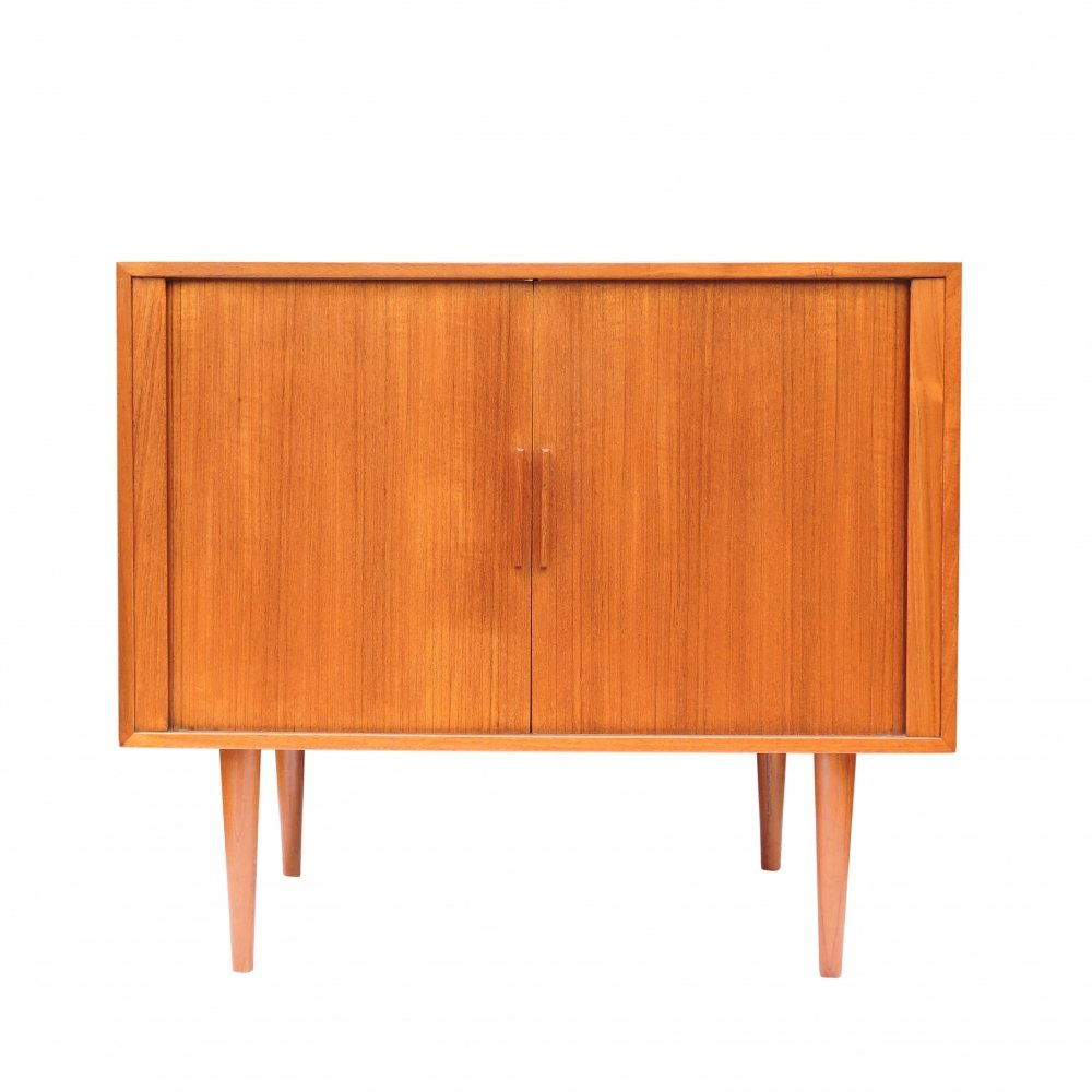 Danish Teak Record Player/Bar Cabinet by Kai Kristiansen for Fm Møbler, 1960s
