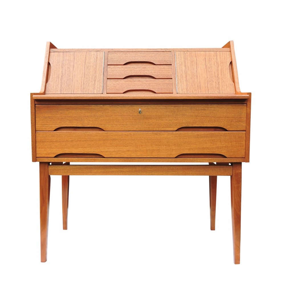 Danish Teak Vintage Bureau/Writing Desk, 1960s