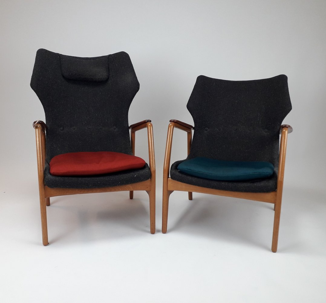 Pair of Bovenkamp Easy Chairs by Aksel Bender Madsen, 1960