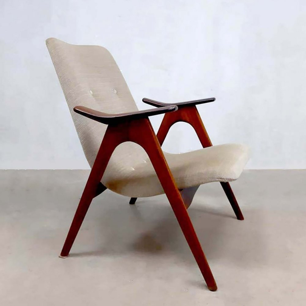 Vintage dutch design lounge armchair by Louis van Teeffelen for Webe