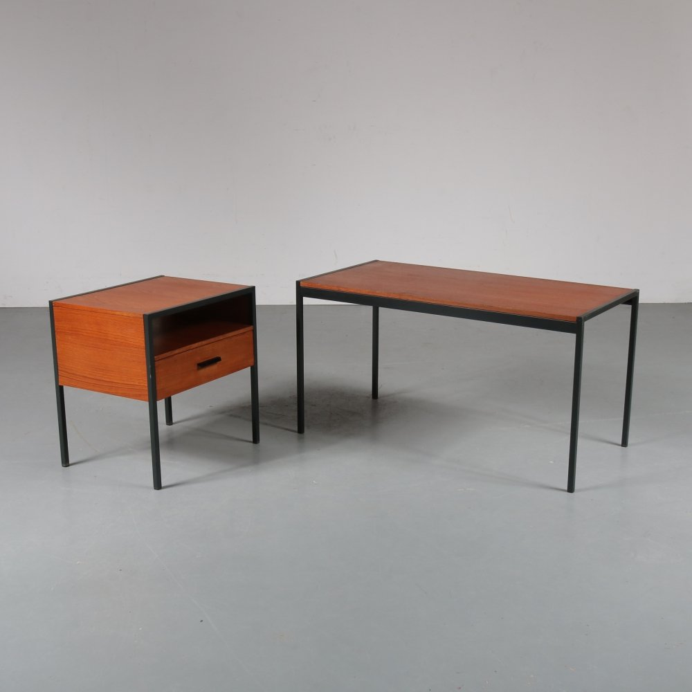 Japanese series side table set by Cees Braakman, 1950s