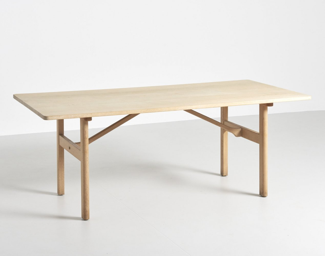 Dining table in solid oak by Børge Mogensen, 1950s