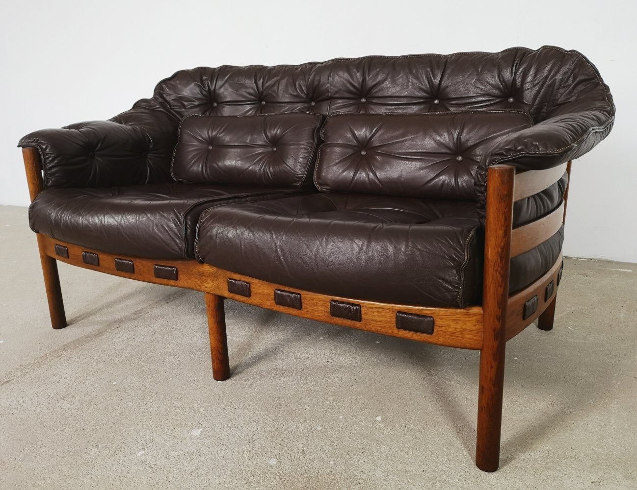 Arne Norell sofa in teak & leather