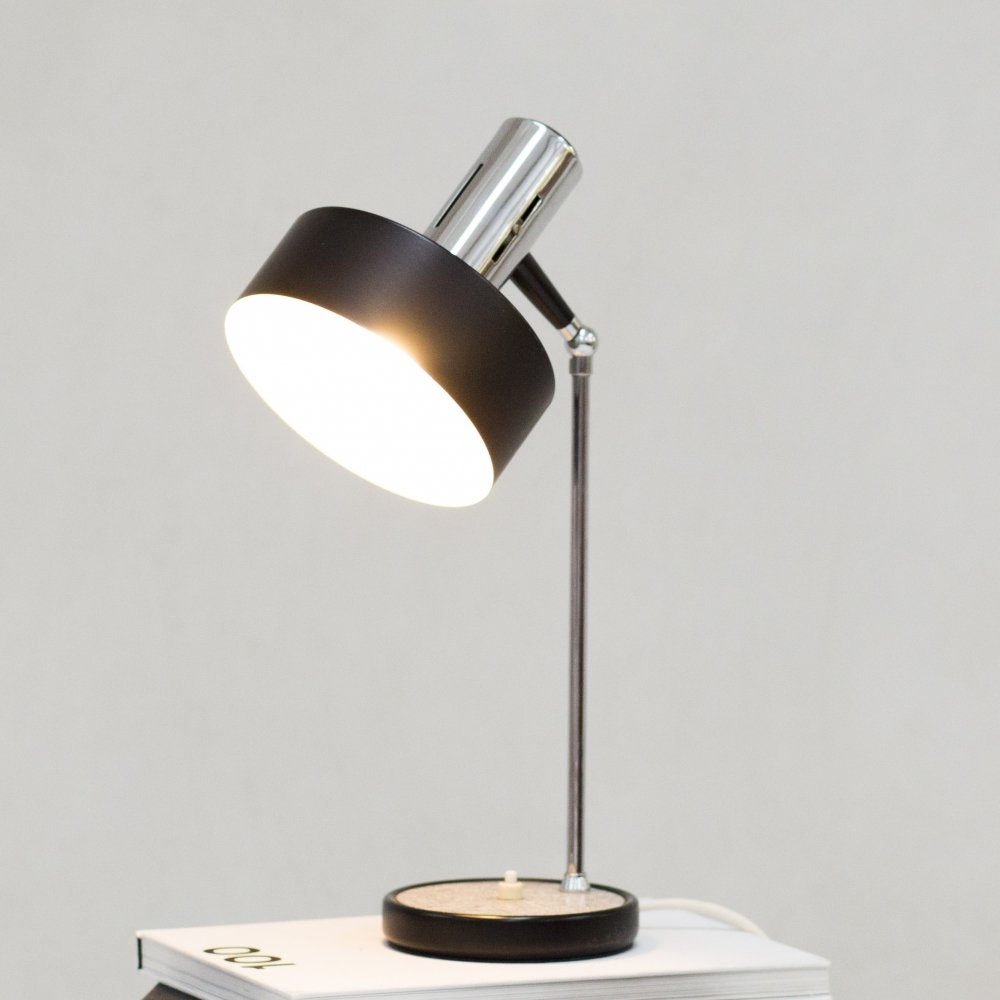 Round desk lamp by Stilux, Italy 1960s