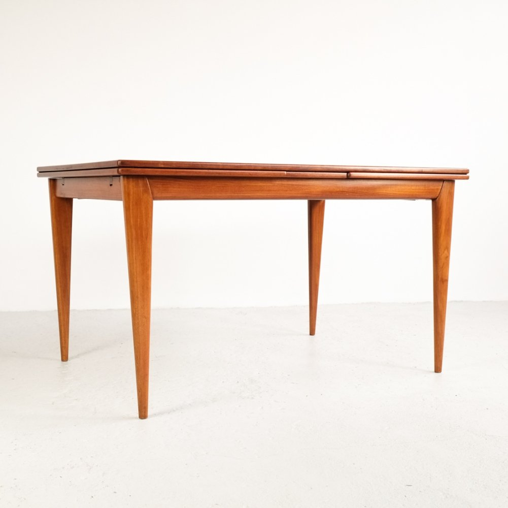 Extendible dining table in teak by Niels Otto Møller, 1960s