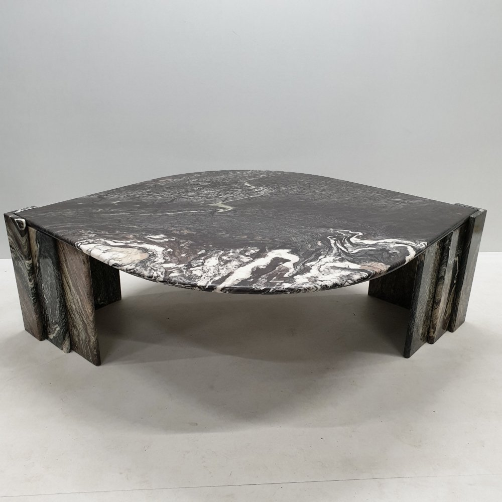 Italian marble teardrop coffee table
