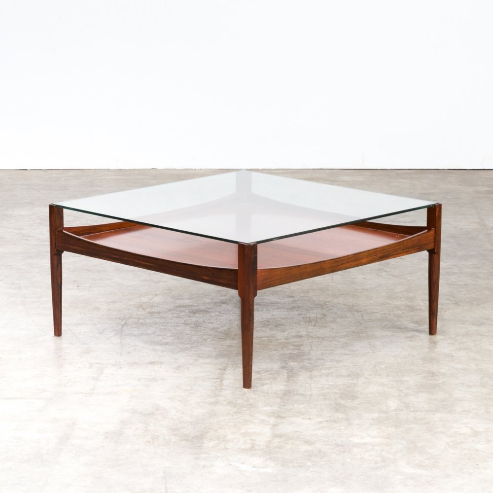 60s square rosewood coffee table