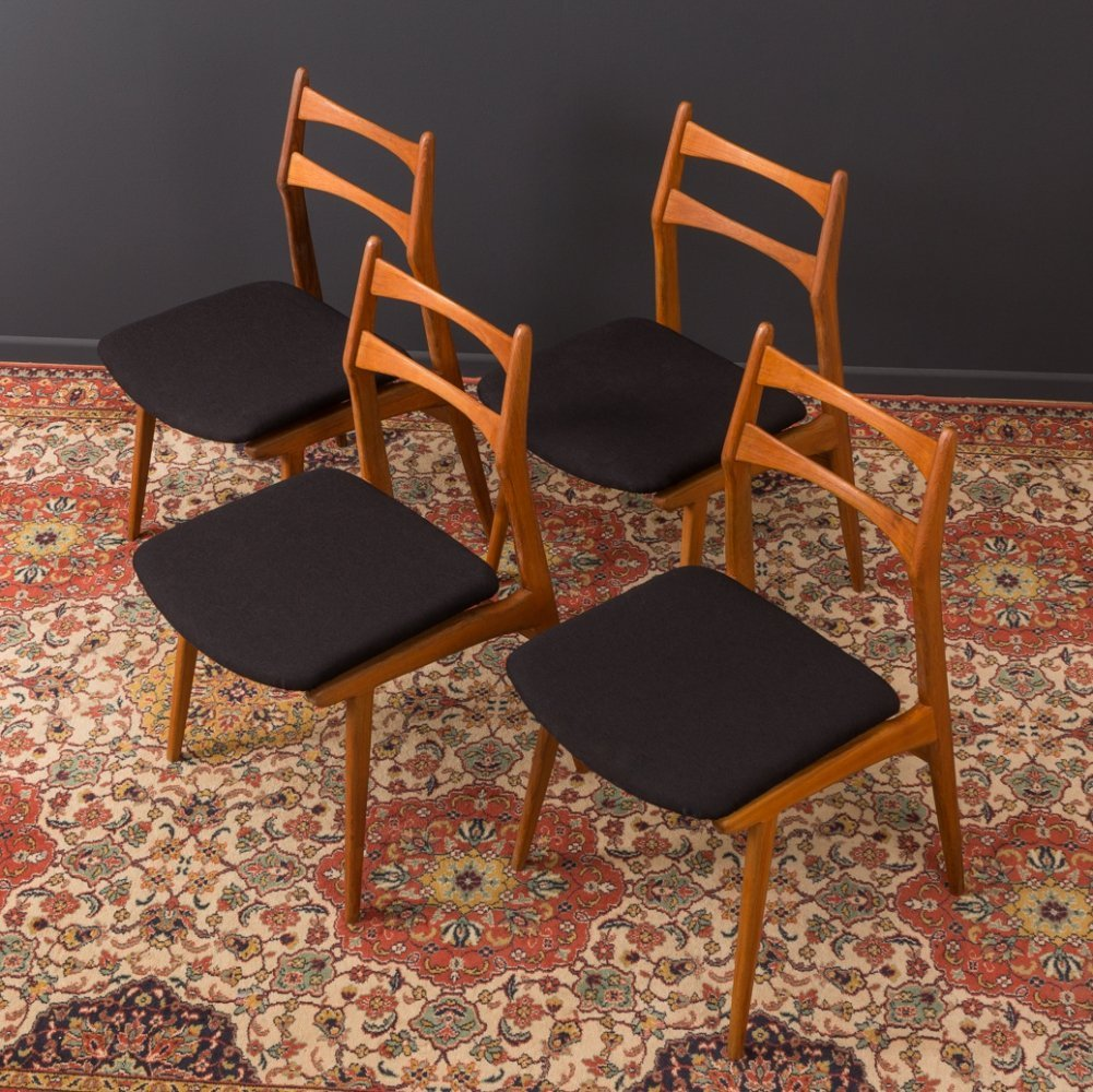Set of 4 German dining chairs by Habeo from the 1950s