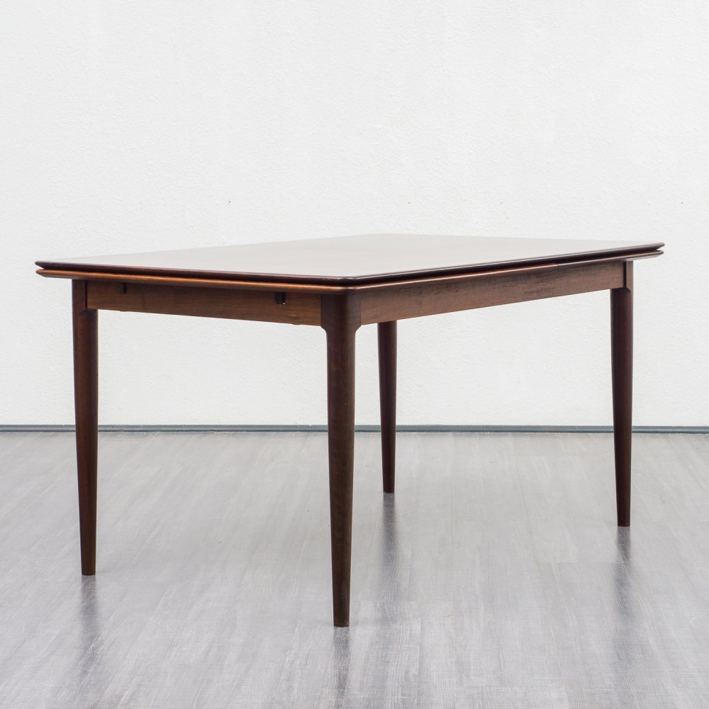 Large midcentury rosewood extendable table by Arne Hovmand Olsen, 1960s