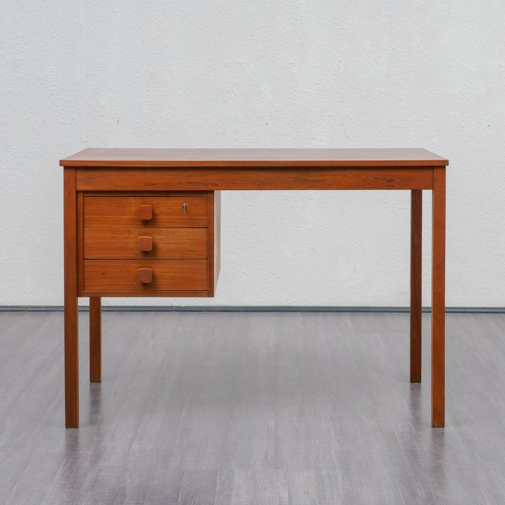 1960s teak desk by Domino Møbler, Denmark
