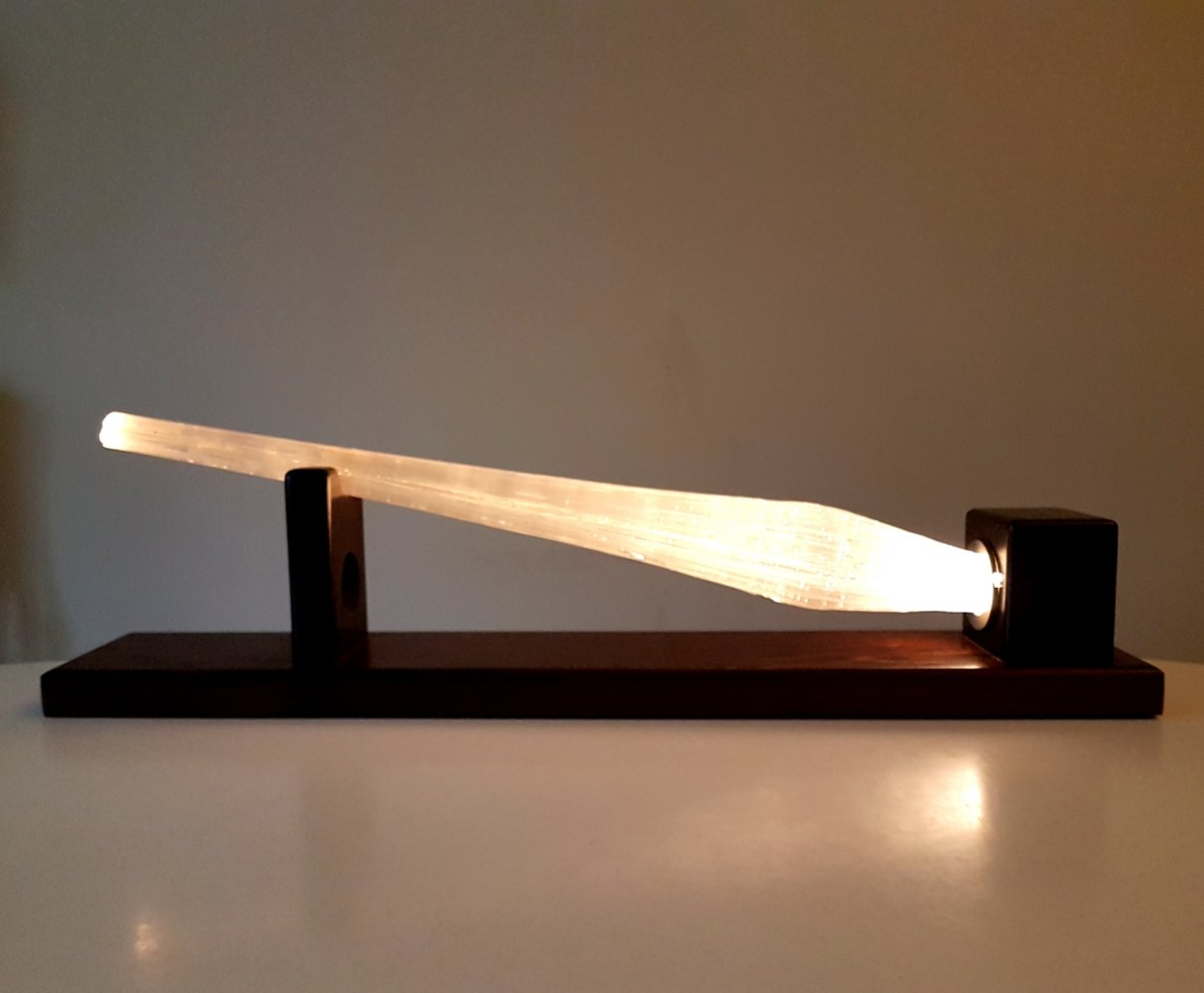 One of a kind glassfiber table or wall lamp, 1970s