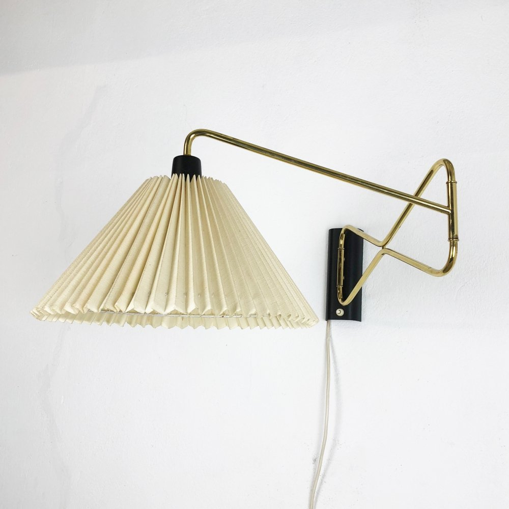 Original Modernist 1950s Brass Metal Swing Wall Light Made by Cosack, Germany
