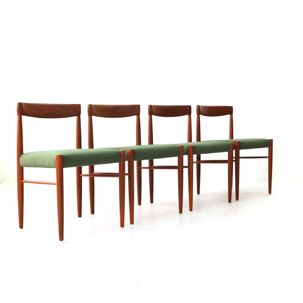 Lot of four Teak Dining Chairs by H.W. Klein for Bramin, DK