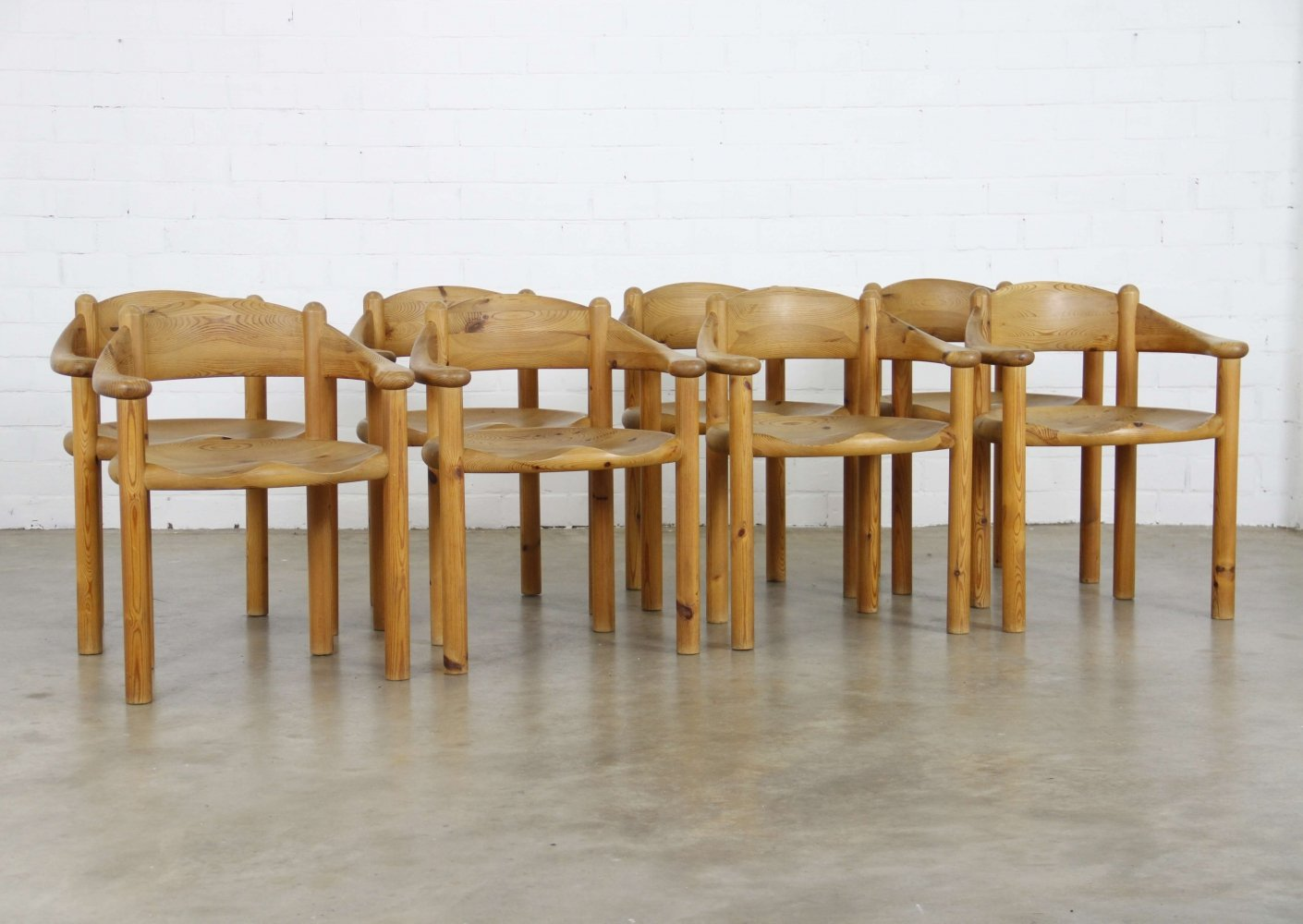 Set of 8 dining chairs by Rainer Daumiller for Hirtshal Sawmill, 1960s