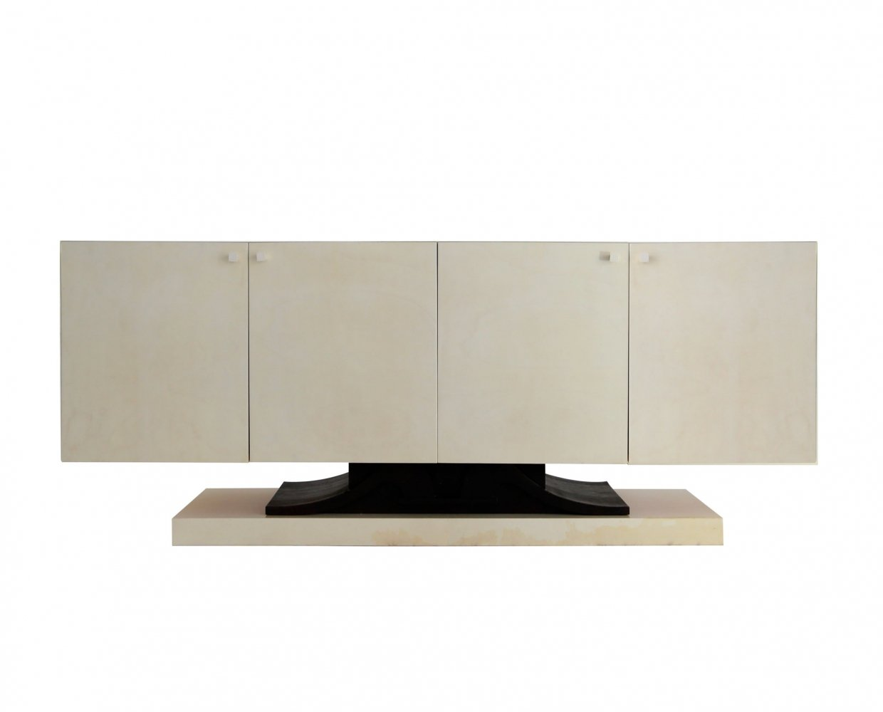 Sideboard in parchment by Aldo Tura, 1970