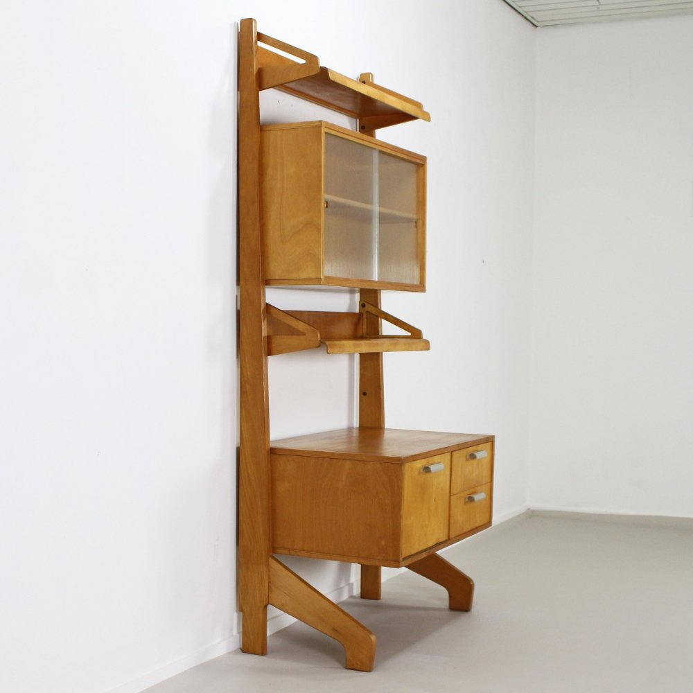 Wall unit by Cees Braakman for Pastoe, 1950s