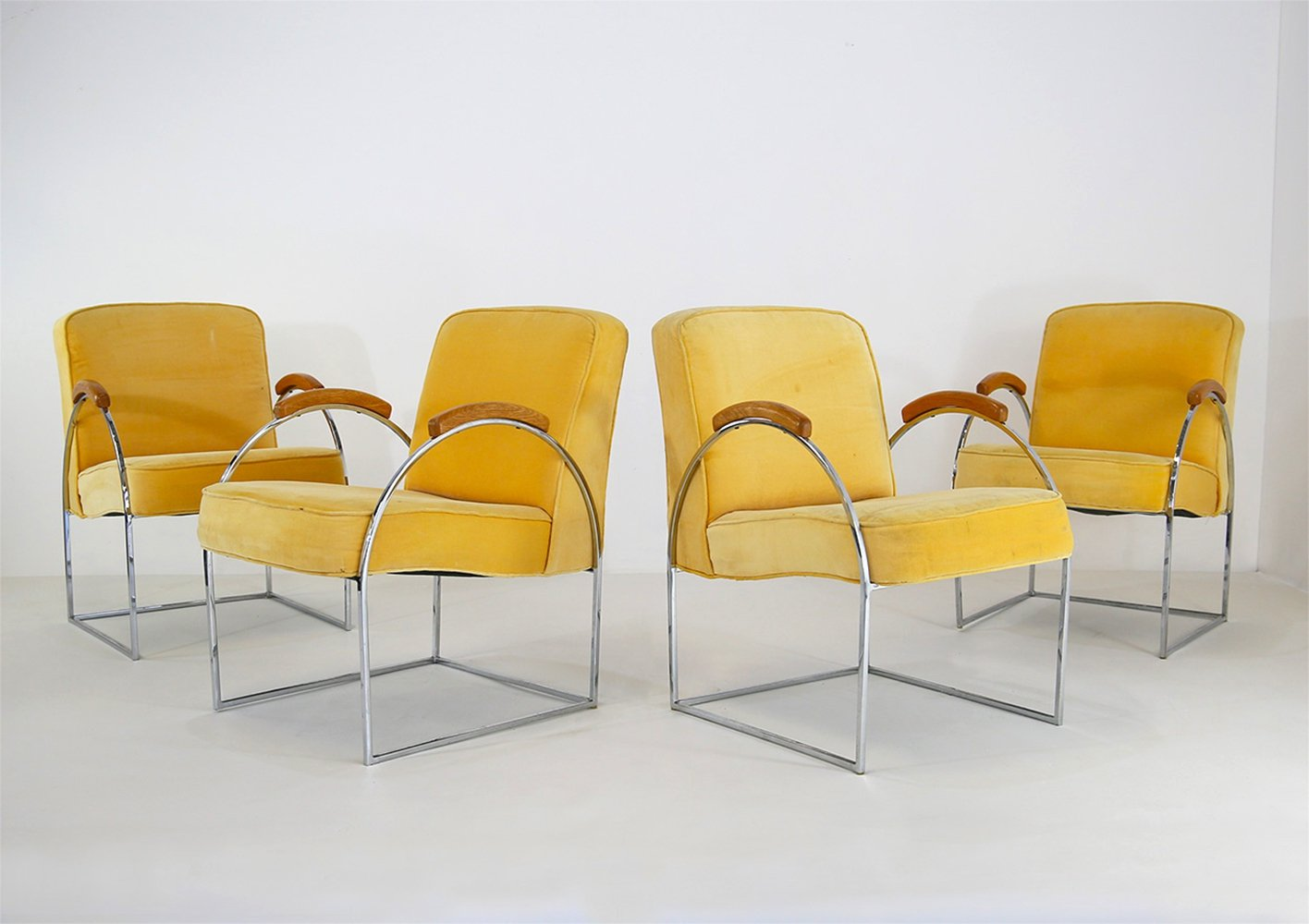 Set of 4 Milo Baughman chairs, 1970s