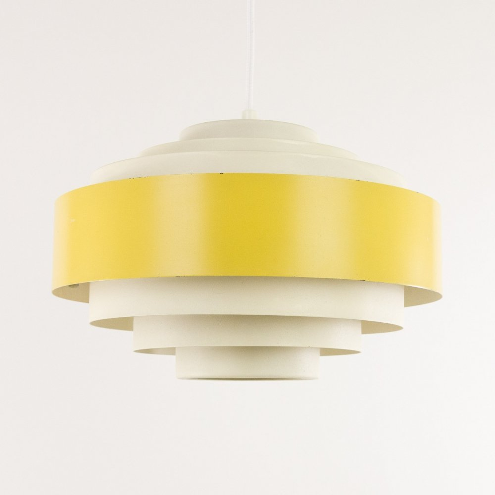 Yellow Ultra pendant by Jo Hammerborg for Fog & Mørup, 1960s