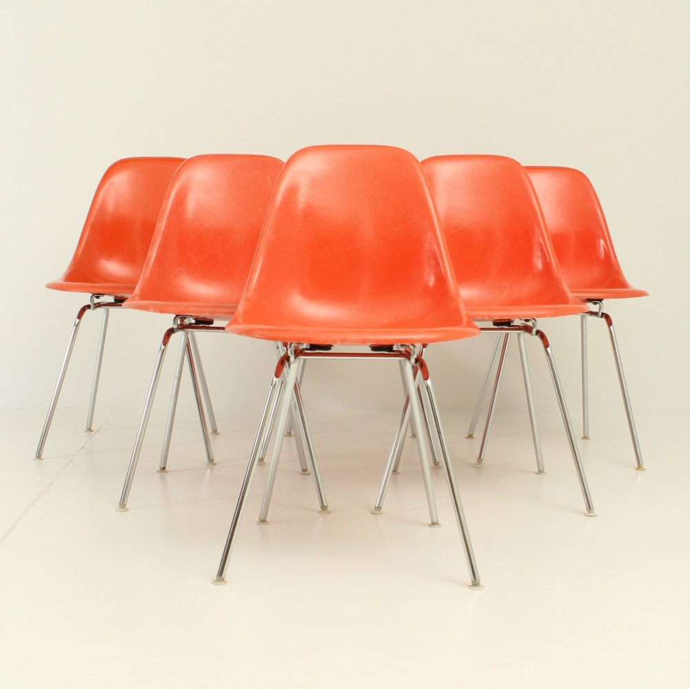 Set of Six DSX Chairs by Charles & Ray Eames