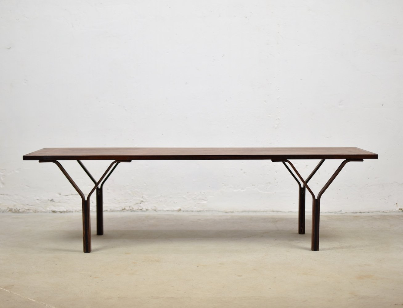 Rectangular rosewood coffee table from Denmark, 1960