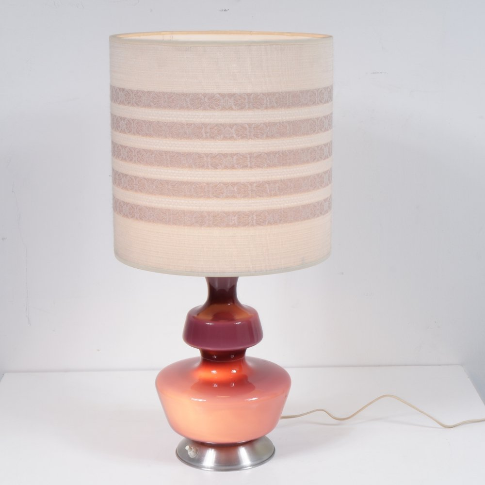 Danish glass table lamp by Holmegaard, Denmark 1950s