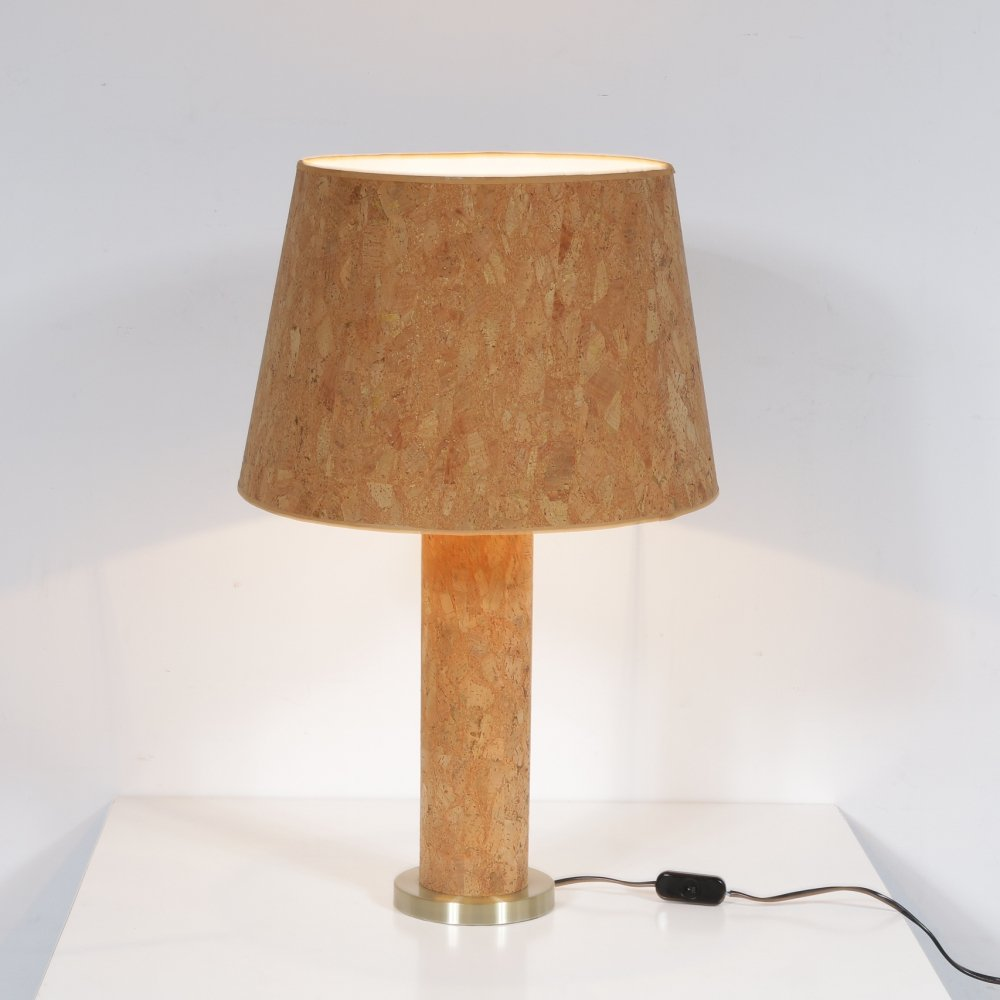 Cork table lamp by Ingo Maurer for M Design, Germany 1970s