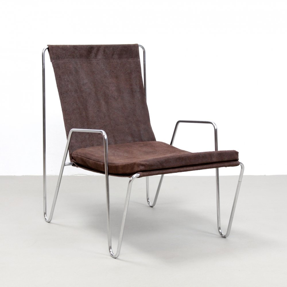 Brown leather Verner Panton Bachelor chair