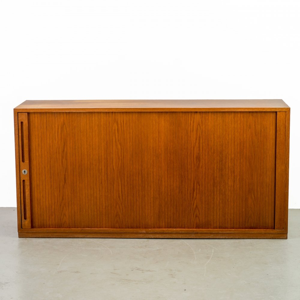 Wooden sideboard with a sliding door, 1960s