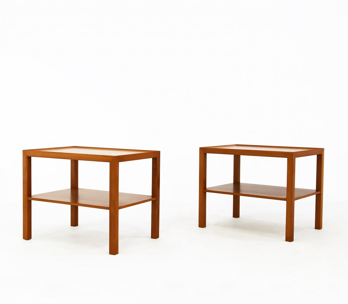 Pair of coffee tables in pear wood by Pierluigi Ghianda for Dior, 1990s