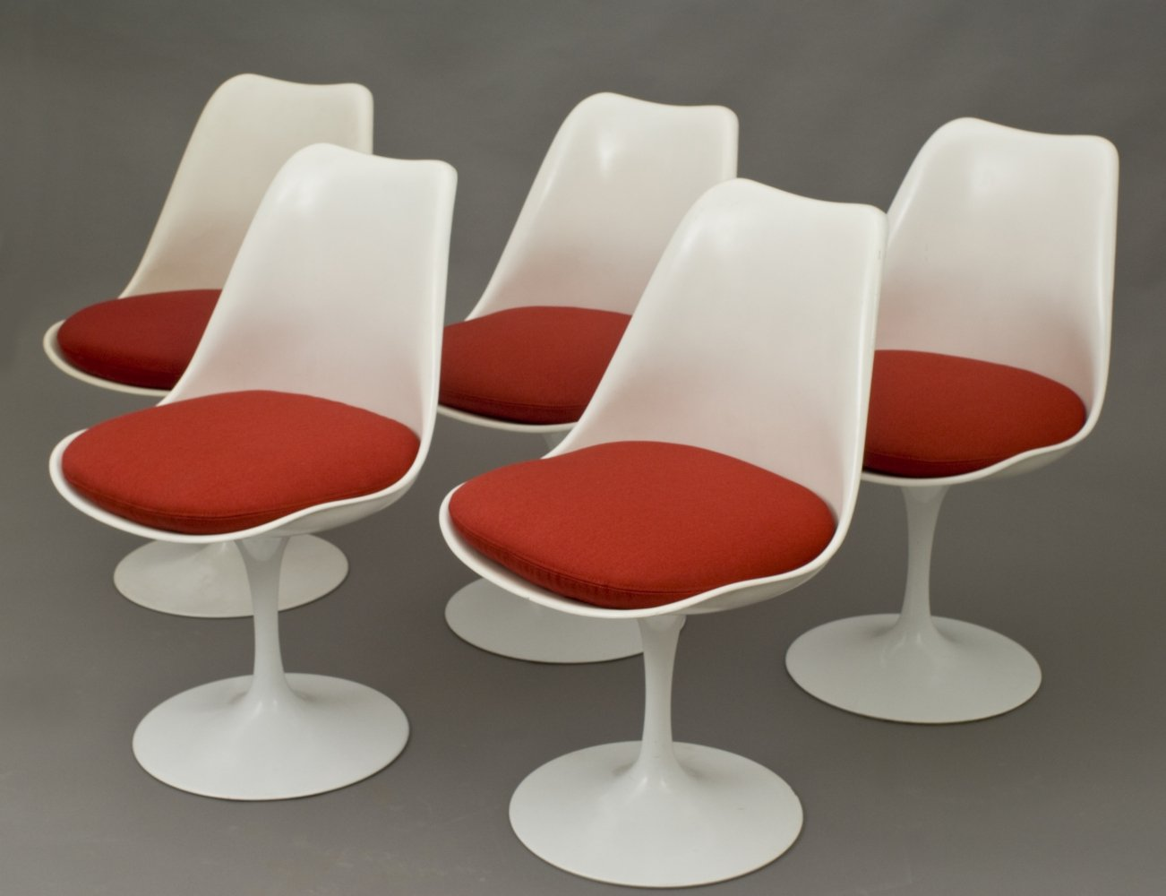 Set of 5 dining chairs by Eero Saarinen for Knoll, 1960s