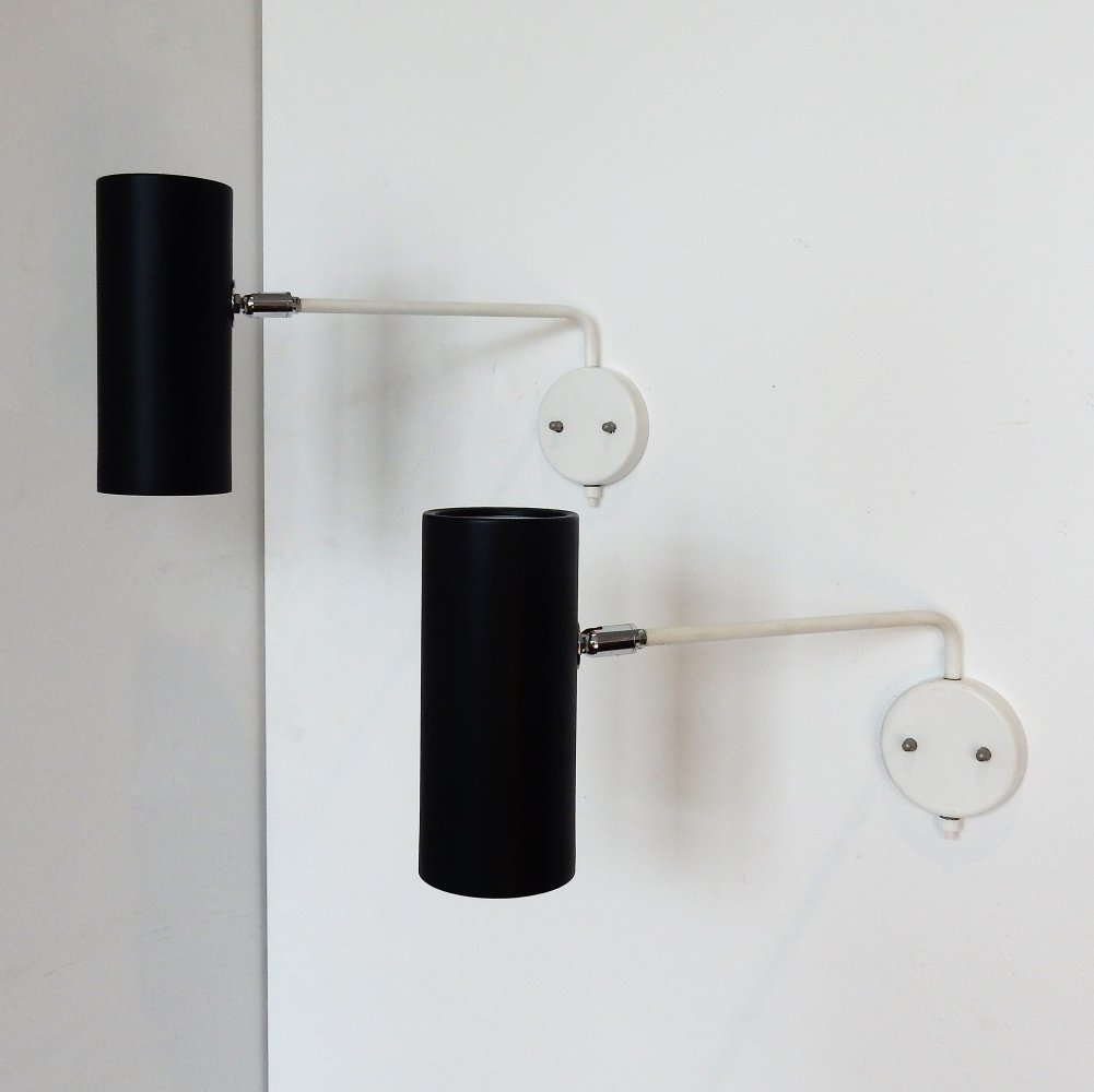 Set of two modernist wall or bedside lamps by RAAK Amsterdam