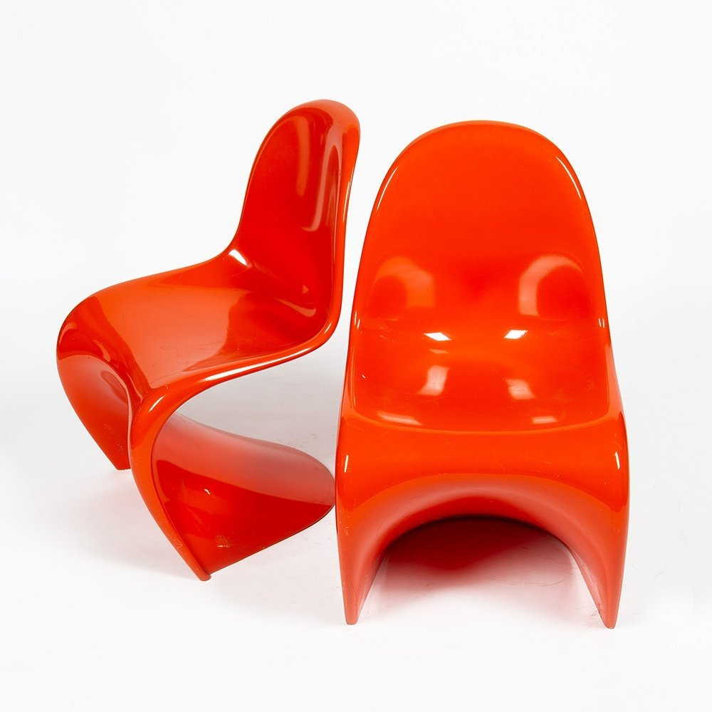 2 x Cantliver dining chair by Verner Panton for Baydur, 1960s