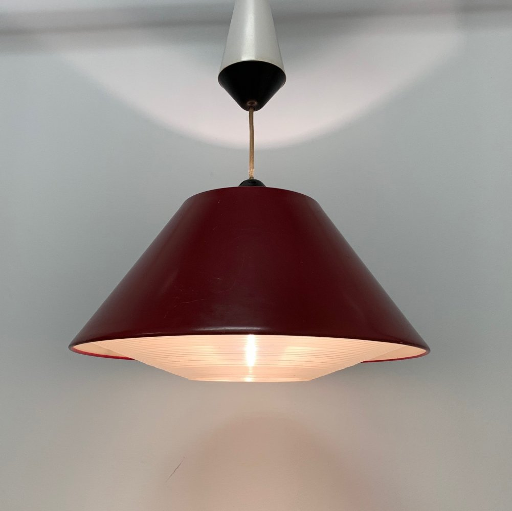 NT44 hanging lamp by Philips, 1950s