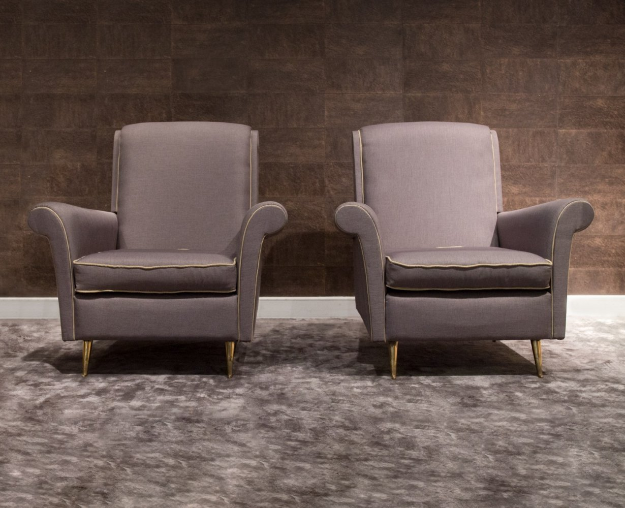 Pair of Italian Armchairs by Luisa & Ico Parisi for I.S.A. Bergamo, 1950s