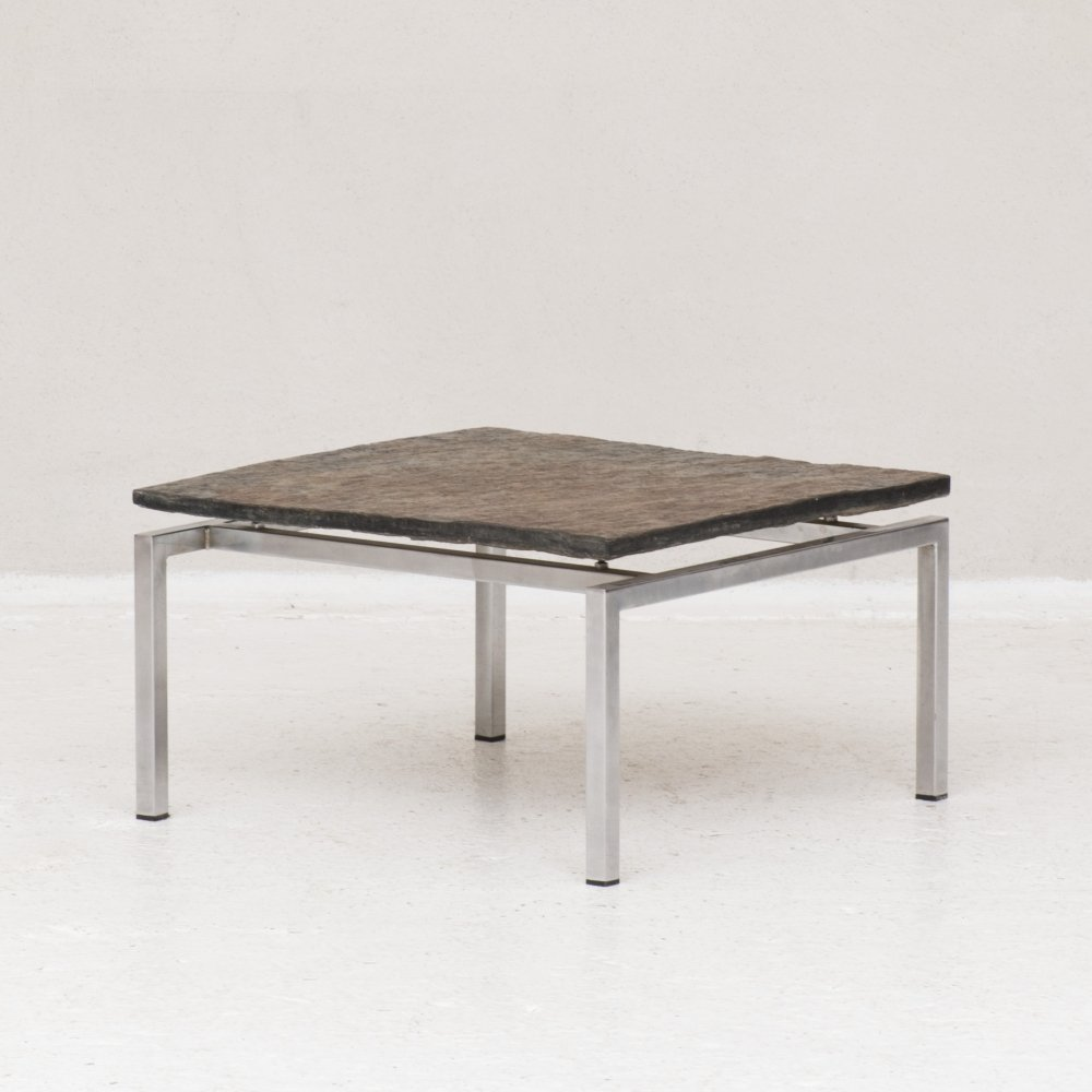 Brutalist slate coffee table, the Netherlands 1950s