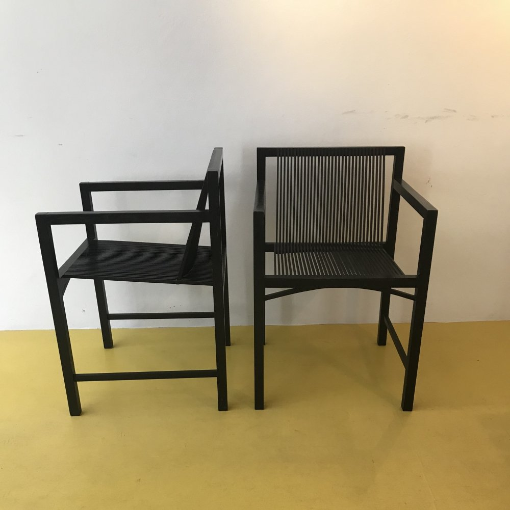 2 x Latjesstoel / slat chair by Ruud Jan Kokke for Metaform