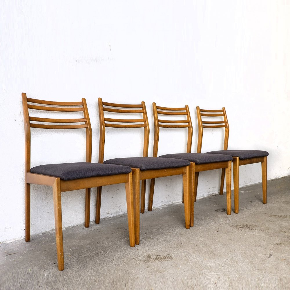 Set of 4 German Dining Chairs from the 60s