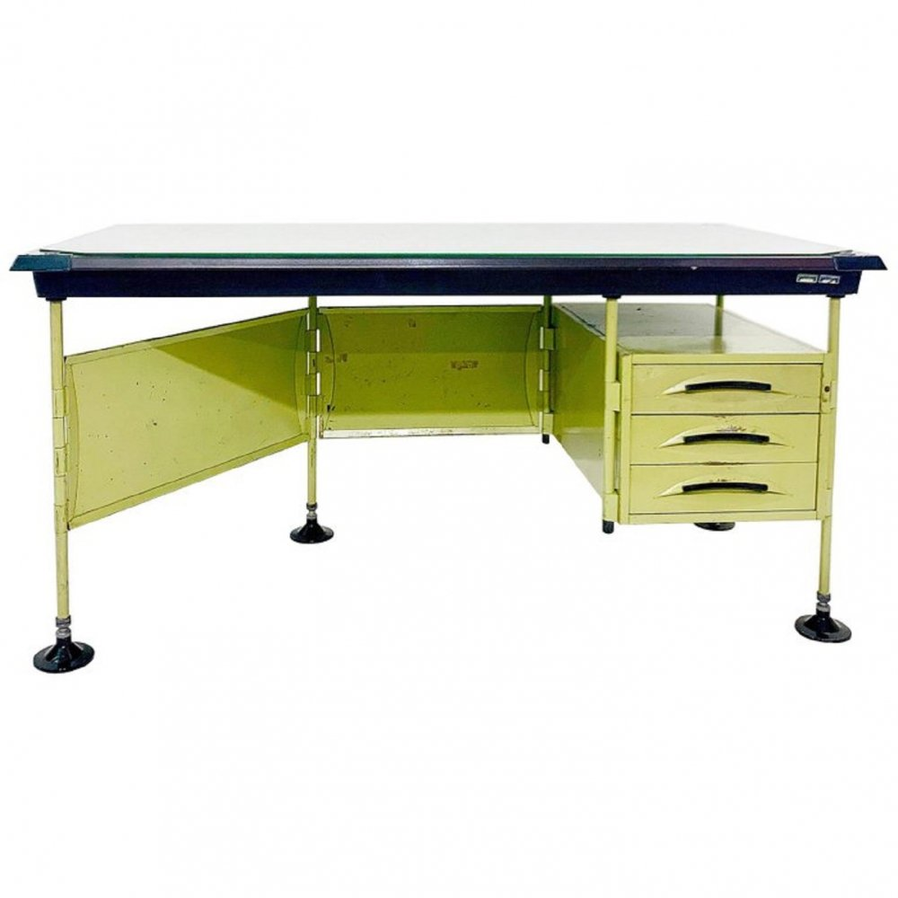 Italian Modernist Spazio Desk By Studio BBPR For Olivetti, 1959