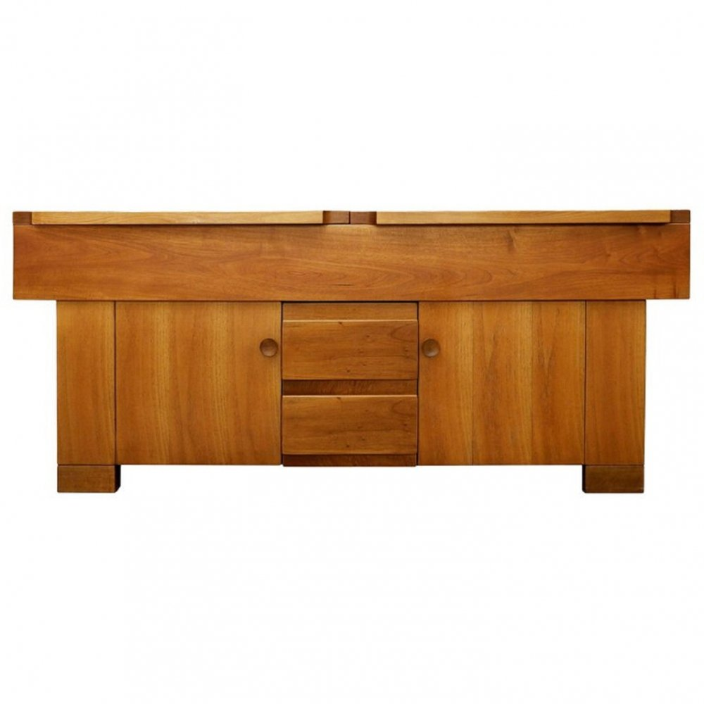 Walnut Sideboard by Giovanni Michelucci for Poltronova
