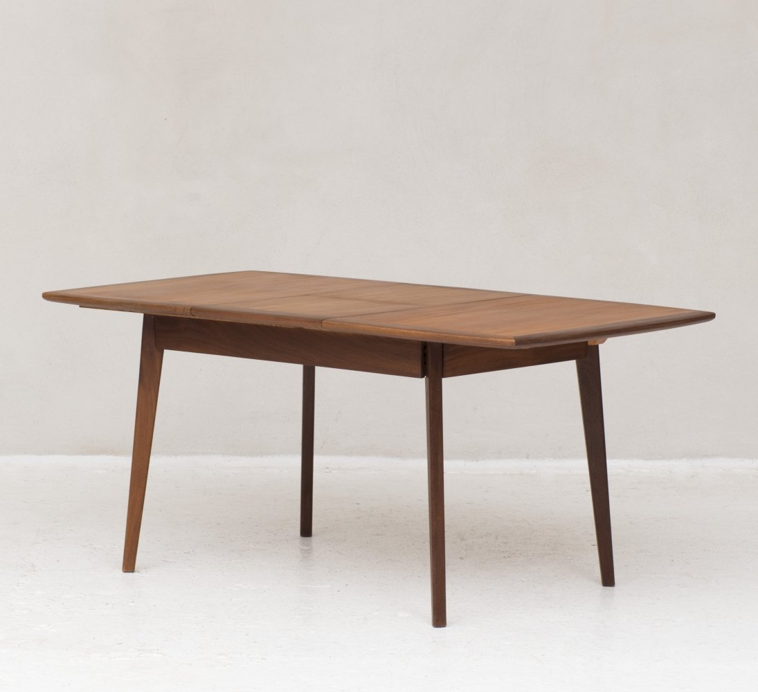 Solid teak extendable dining table, the Netherlands 1960s