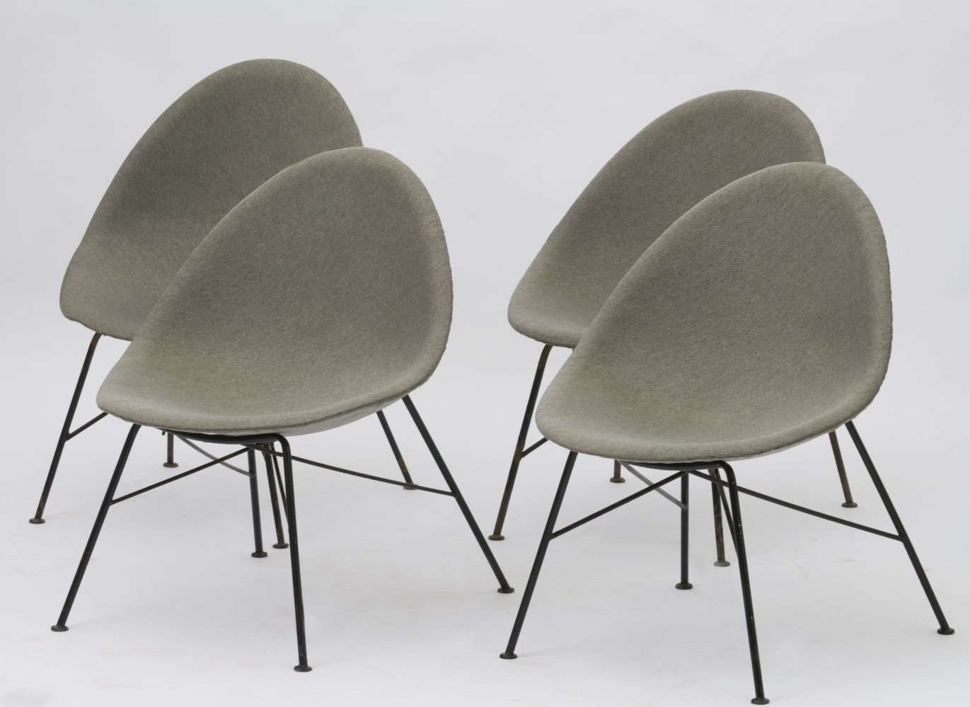 Set of 4 vintage lounge chairs, 1960s